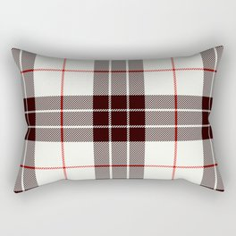 White Tartan with Black and Red Stripes Rectangular Pillow