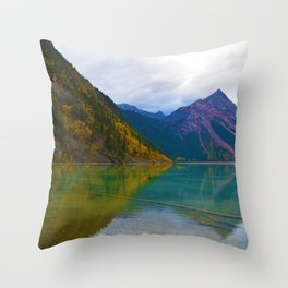 Kinney Lake in Mount Robson Provincial Park, BC / Canada Throw Pillow