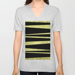 Black and Gold Flags Unisex V-Neck