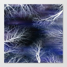 Abstract Midnight Trees Canvas Print