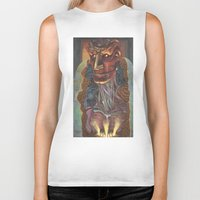 ghost in the shell Biker Tanks featuring Ghost In the Shell by Haslin