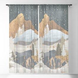Winter Stars Sheer Curtain