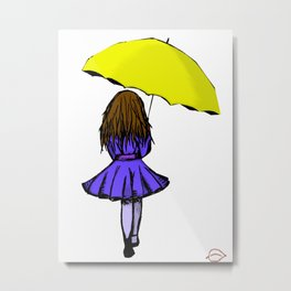 In the rain2 Metal Print