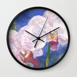 Orchid Gaze Wall Clock