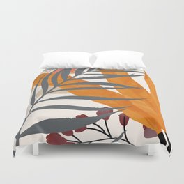 Colorful Red Leaves Duvet Cover