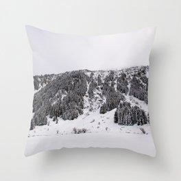 White Winterscapes III Throw Pillow