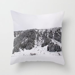 White Winterscapes III Throw Pillow