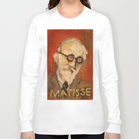 matisse Long Sleeve T-shirts featuring 50 Artists: Henri Matisse by Chad Beroth