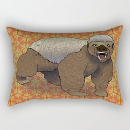 Honey Badger Rectangular Pillow