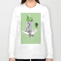bianca green Long Sleeve T-shirts featuring green by Art of Bianca