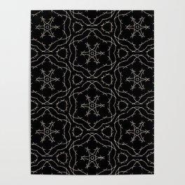 Antique Black and Gold Pattern Design Poster