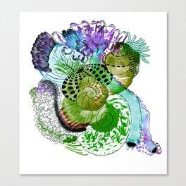 Ocean Greenery Canvas Print