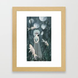 Watergirl Framed Art Print