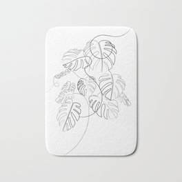 Cheese Plant Line Drawing Bath Mat