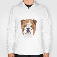 english bulldog Hoodies featuring English bulldog by Hedera