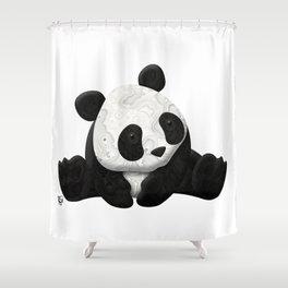 Lace Agate Panda Shower Curtain