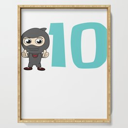 Birthday Ninja Party 10th Samurai Ninjas Gift Japanese Ninja stars Fighter Gift Serving Tray