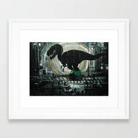 dinosaur Framed Art Prints featuring dinosaur by mass confusion