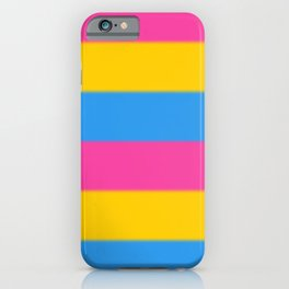 Pansexual Pride Flag v2 iPhone Case