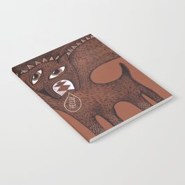 friendly monster says hello to the surreal eye Notebook