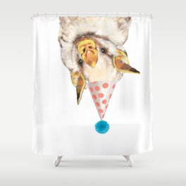 Baby Bat with Party Hat Shower Curtain