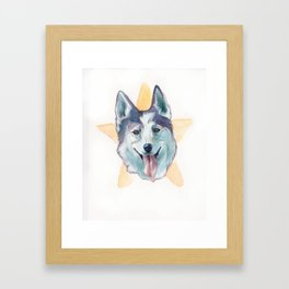 Kaya, also a lovely dog. Framed Art Print