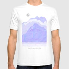 Mount Everest White MEDIUM Mens Fitted Tee