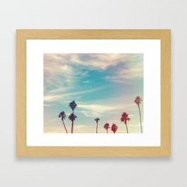 Los Angeles Palm Trees Light Leak Framed Art Print