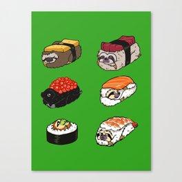 Sushi Sloth Canvas Print