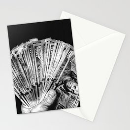 Money - Black And White Stationery Cards