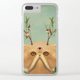 Bastet, Cat Deity - patron of the forest & animals Clear iPhone Case