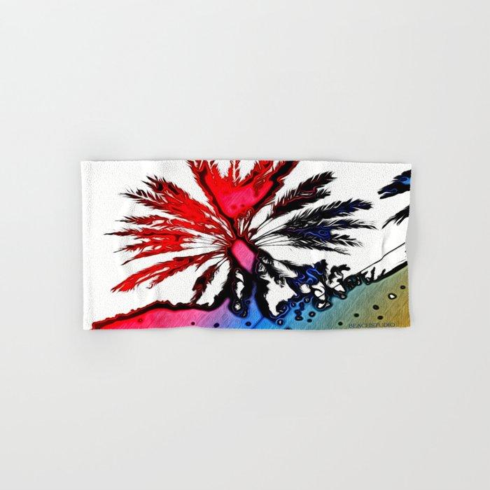 Fiery Palm Hand & Bath Towel