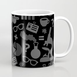 Grey and Black Science Pattern Coffee Mug