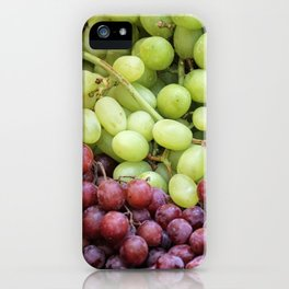 red and white grape iPhone Case