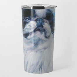 Japanese Chin dog art from an original painting by L.A.Shepard Travel Mug