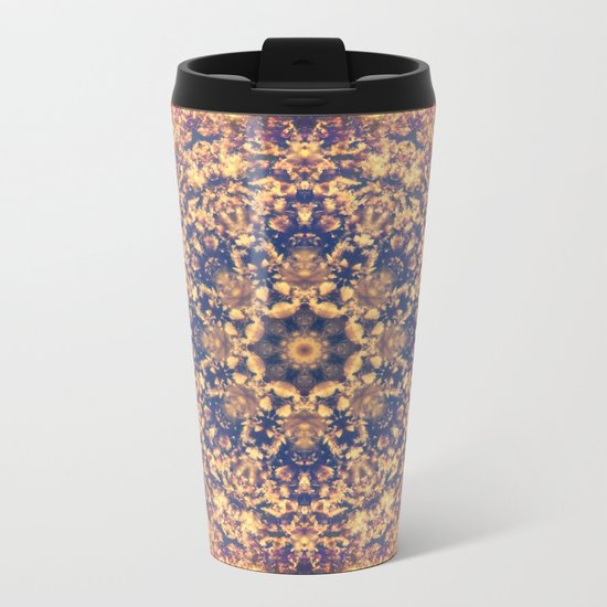 Distant Clouds Mandala Metal Travel Mug