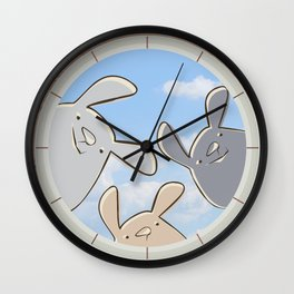 Sweet bunnies Wall Clock
