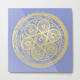 flower power: variations in periwinkle & gold Metal Print