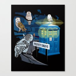 Hedwig Says Who! Canvas Print