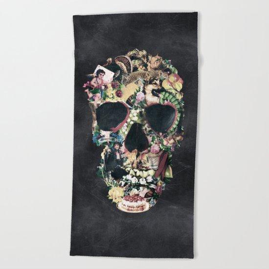 Vintage Skull Beach Towel