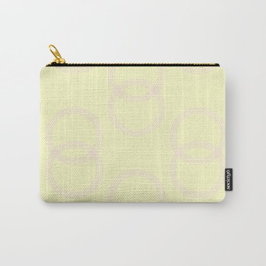 Simply Infinity Link Pink Flamingo on Pale Yellow Carry-All Pouch