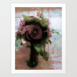 Shabby Rose Art Print