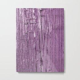 Violet rustic wood Metal Print