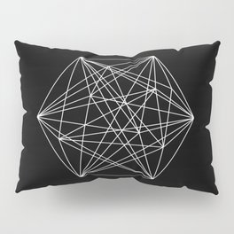 Intricate - Black And White Geometric, Conceptual Abstract Pillow Sham