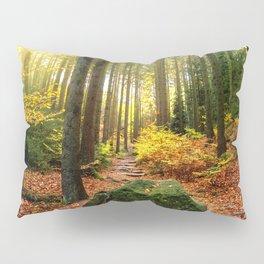 Path Through The Trees - Landscape Nature Photography Pillow Sham