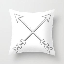 SILVER SPEAR ARROWS Throw Pillow