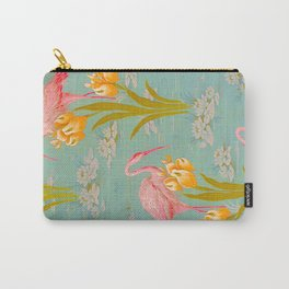 Papier peint - Isidore Leroy - 1905 Flamingo Pond Floral Pastel Pattern Carry-All Pouch