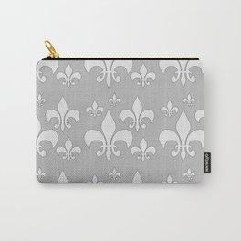 Fleur de lis gray Carry-All Pouch