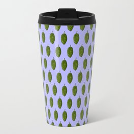 Hops Light Blue Pattern Travel Mug