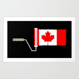 Paint Roller Canada Art Print
